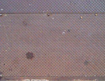 metal threadplate rust treadplate