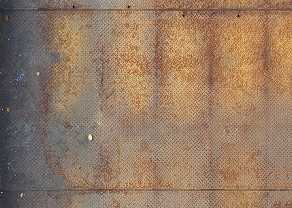 metal tearplate treadplate rust rusted floor