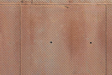 treadplate tearplate floor metal rust rusted