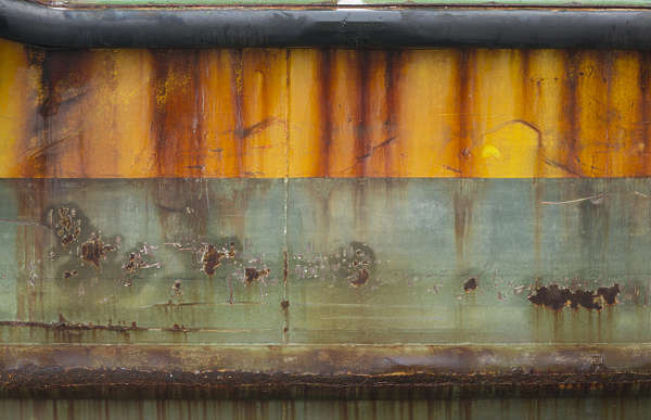 venice italy metal painted leaking rusted weathered