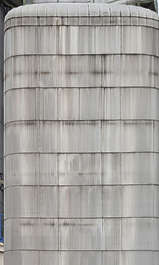 metal plates leaking silo