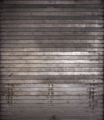 metal plate rollup galvanized dirty