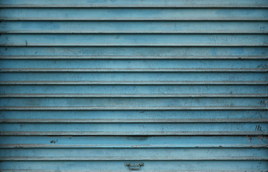 Metalrollup0040 free background texture metal rollup paint blue - Roll up door texture ...