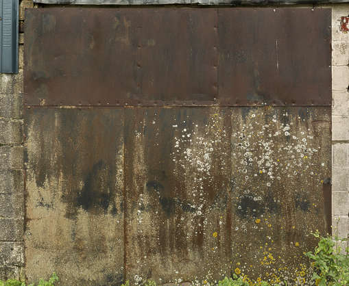 UK metal plate rusted old weathered