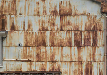 metal rusted plates old leaking rust rusty  plate fence wall cladding facade