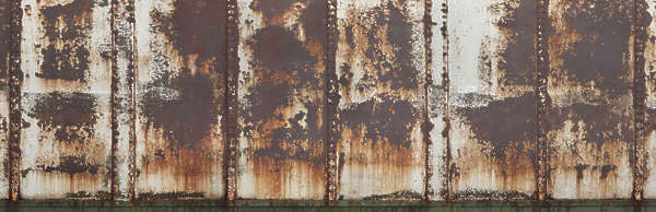 metal rusted rust train roof