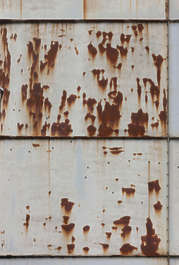 metal plates rusted rust silo