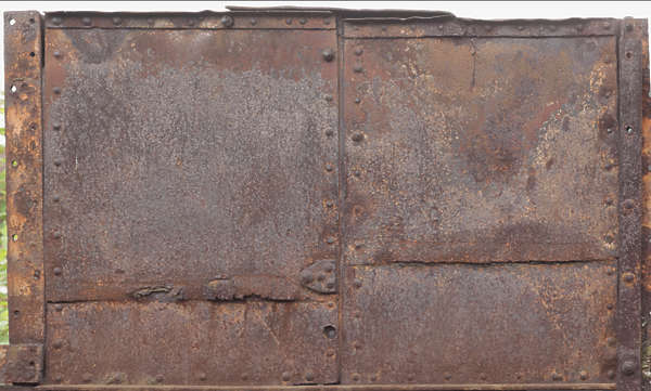 rust rusted plain plates