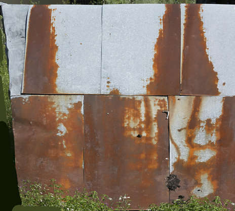 rust rusted plates roofing