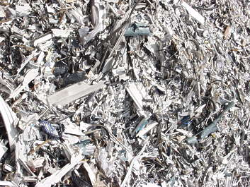 scrap scrapyard trash plastic shredded