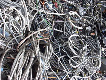 scrap scrapyard trash wire wires electrical