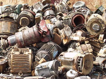 scrap scrapyard mountain trash scrapmetal metal recycle electro motors