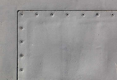submarine metal seam painted hatch bolts rivets