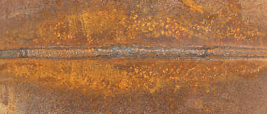 sign weld rust rusted pipe seam