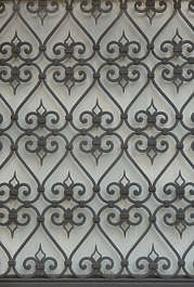 venice italy window grate metal ornate grill