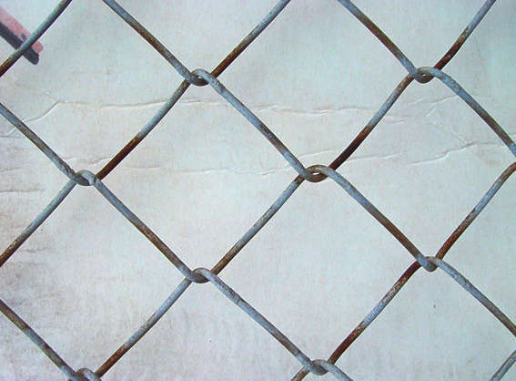 fence chainlink metal wire closeup