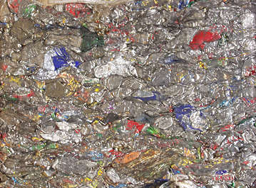 scrap can recycle waste trash garbage compacted