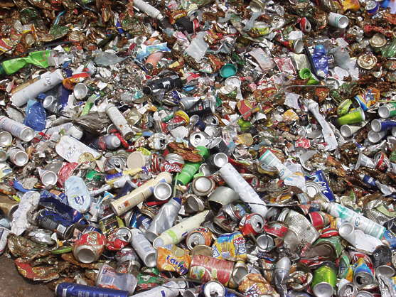 scrap can recycle waste trash garbage