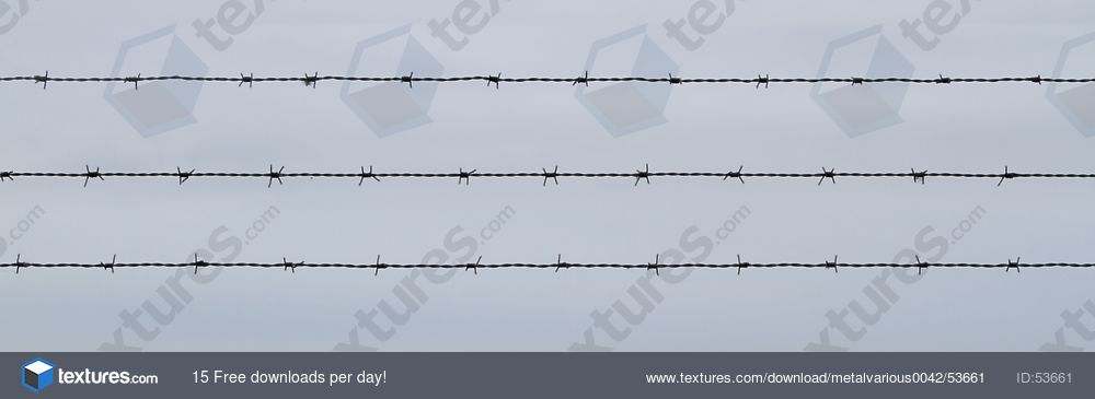 MetalVarious0042 - Free Background Texture - barbed wire barb ...