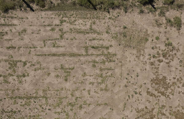 aerial farmland farm sand earth dirt empty