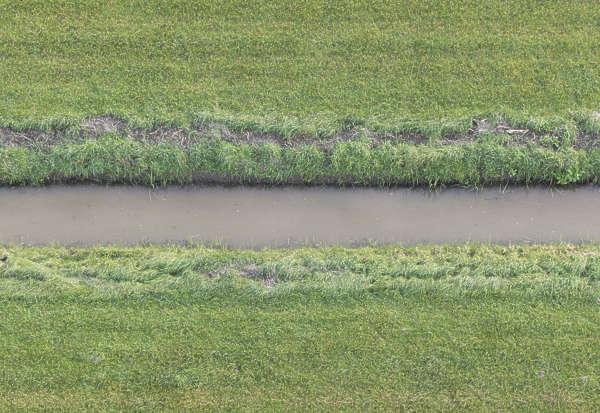 grass field texture. Aerial Grass Field Stream Water Terrain Texture