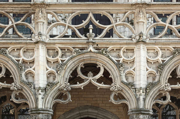 ornament arch ornate stone facade building