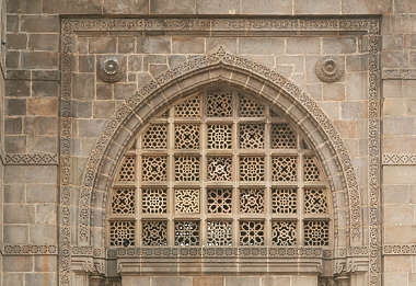 india window ornate arch church temple