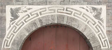 south korea ornate ornament arch archway doorway