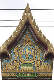 thailand bangkok asia asian ornate ornament roof pediment glided