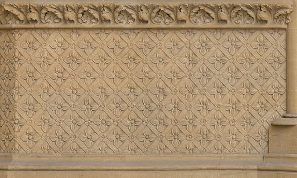 pattern ornate sandstone flowers church old