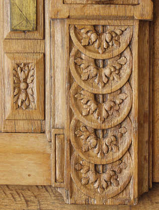 ornament wood leaves