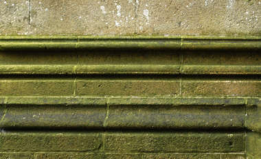 ornament border brick stone moss medieval
