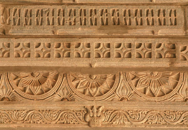 india ornament relief border trim carving