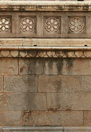 india ornament border trim column pillar stone wall