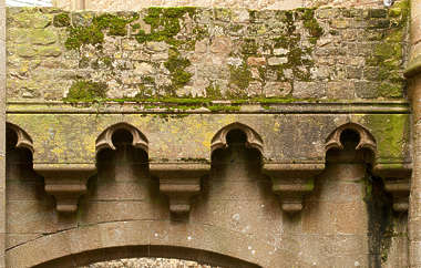 ornament border stone medieval moss