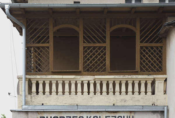 facade balcony wooden old