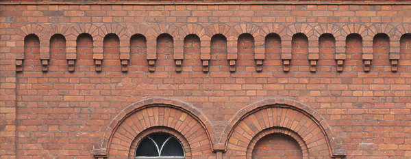 brick cornice border ornate ornament
