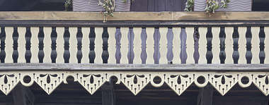 ornament wooden ornate balcony
