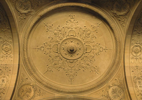 ornament circle ceiling stone