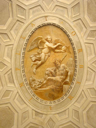 ornament ceiling painting angel
