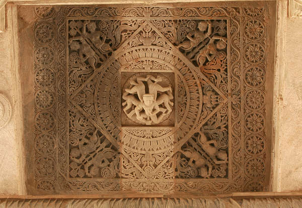 india ornament panel ornate carving ceiling temple