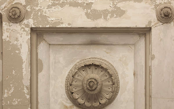 france ceiling panel weathered old ornate