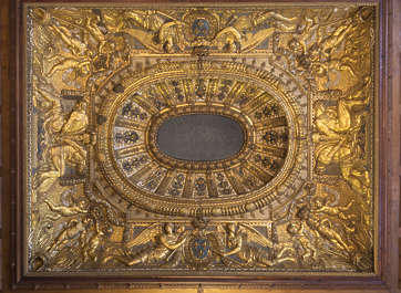 ceiling ornate gilded gold ornament france