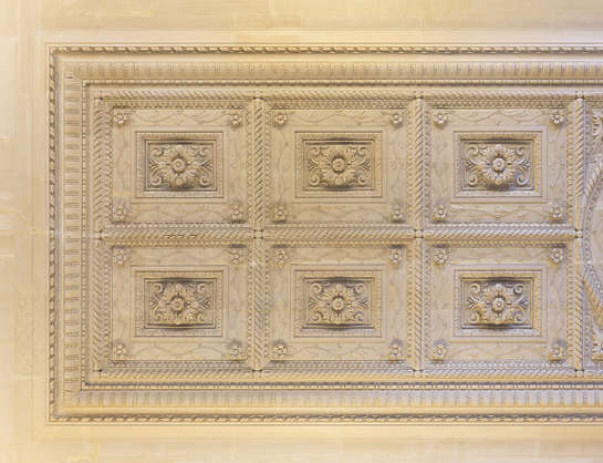 ornament ornate panels ceiling france