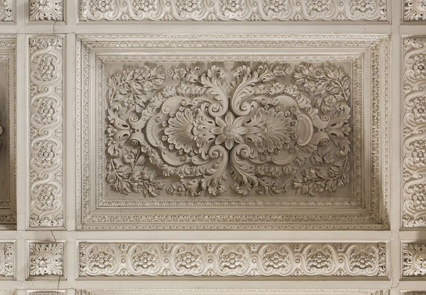 Plastic Moulding Trim >> OrnateCeiling0033 - Free Background Texture - ceiling ornate ornament stone border trim brown beige