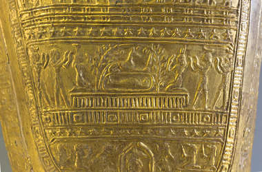 egyptian egypt sarcophagus coffin ornament gold gilded hieroglyph