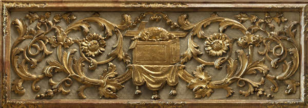 ornate ornament glided france panel