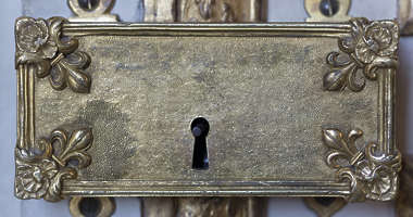 ornate ornament gold gilded lock old medieval box