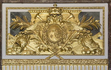ornate ornament gold gilded panel shield