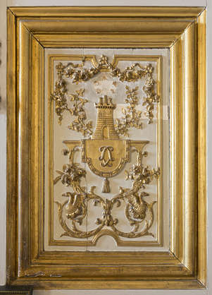 panel ornate ornament gold gilded